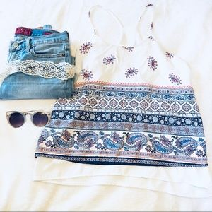 Alice Blue | paisley tank top • s